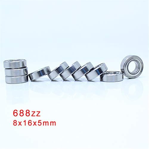 688ZZ Bearing ABEC-5 10PCS 8X16x5 Mm Miniature 688Z Mini Ball Bearings 618/8ZZ EMQ Z3 V3 688 ZZ ()