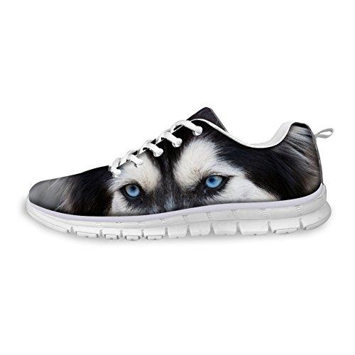 Knuffels Idee Hugsidea Damesmode Casual Sneakers Dieren Bedrukte Hardloopschoenen Husky