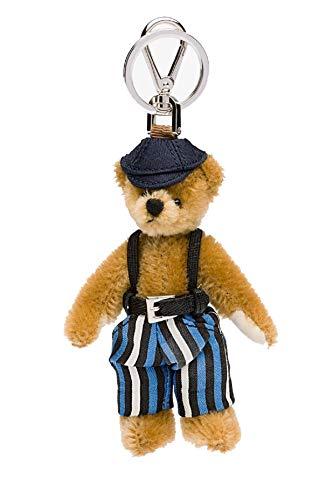 (Prada Trick Brown Striped Overall Tom Teddy Bear Key Ring 1ARI19)