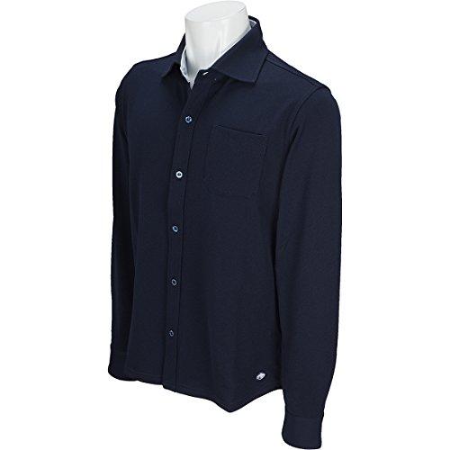 フィドラ FIDRA 長袖シャツ?ポロシャツ ホリゾンタルカラー長袖シャツ ネイビー L
