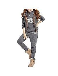 Perfectii Ladies 3 in 1 Sport Suit Tracksuit of Hoodies Winter Dicke Jacket Wit