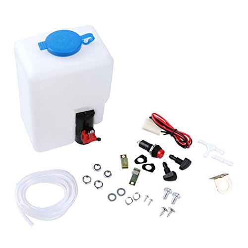 Yeefant 12V Universal Windscreen Washer Pump Bottle Kit Cleaning Tools For Classic Cars Boats Marine,Use Pure Water ()