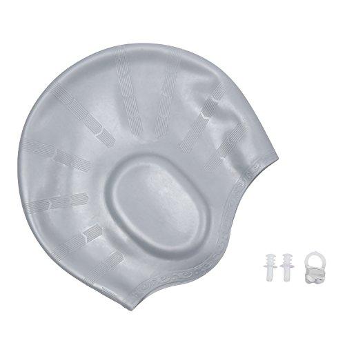 - O'Brighton Waterproof Swim Cap for Adult Men Women Solid Silicone Swim Caps For Women Long Hair Men Short Hair With 3D Ergonomic Design Ear Pocket Keep Hair Dry Comfortable Swimming CapWomen