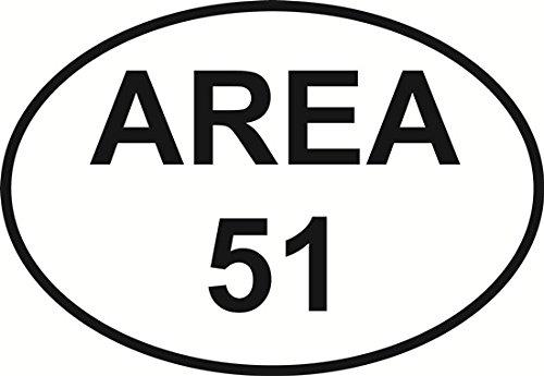 Area 51 Design (Area 51 Oval Bumper Sticker)
