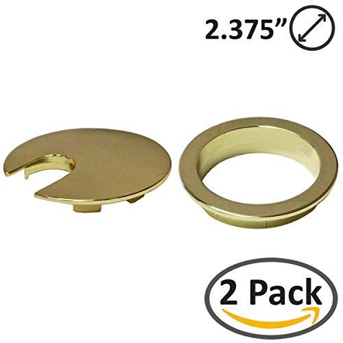 2 3/8 Inch Polished Brass - 2