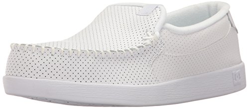 DC Men's Villain Skateboarding Shoe, White, 12 D D - Handled Pattern