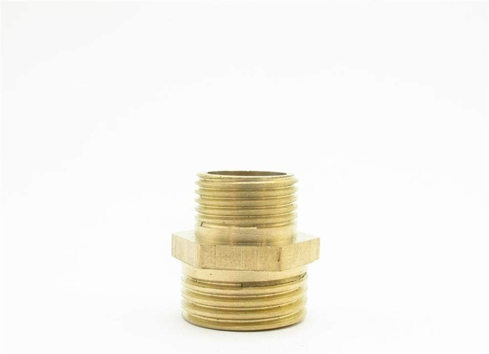 Color : NO11 Adattatore per rubinetto 1//8 1//4 3//8 1//2 3//4 1 BSP maschio Filettatura ottone Raccordo Pari Ridurre Hex adattatore del connettore accoppiatore con i capezzoli