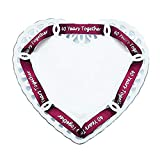 40th Anniversary Plate - Porcelain Heart Shaped Plate for 40th Anniversary Gift