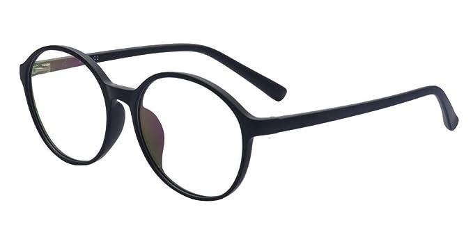 acff1580f67c ALWAYSUV Black Myopia Glasses Stylish TR90 Frame Shortsighted Nearsighted  Eyeglasses for Men Women -1.0