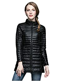 Elezay Women's Winter Light Weight Down Jacket Ultra Soft Coat