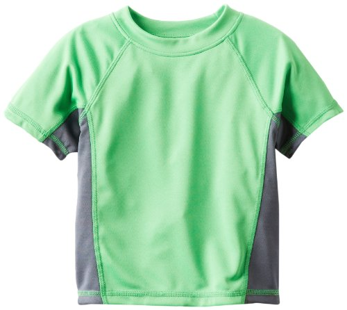 - Kanu Surf Toddler Boys' Short Sleeve UPF 50+ Rashguard Swim Shirt, CB Green, 5T