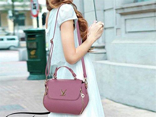 purple Litchi borsa Donna colori a cerniera Chiusura Diagonale singola a purple NVBAO Cross tracolla Cinque Grain Packets Fashion Shopping TqpAxdw