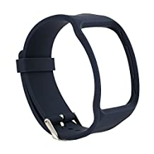 BillionPair Replacement Wristband for Samsung Galaxy Gear S SM-R750 Smart Watch, Soft Touch Feeling TPU, Watch Band Style with Metal Buckle, Multi-colors Available (No Tracker)