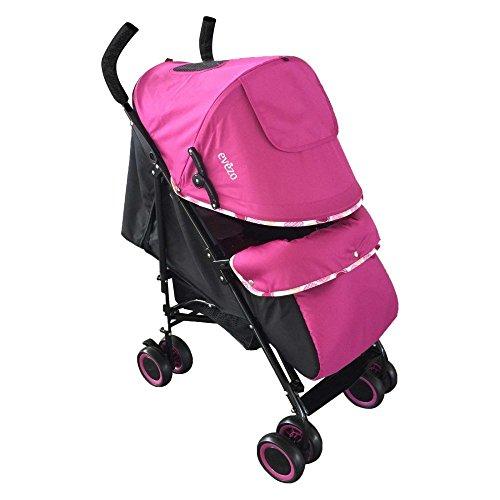 Evezo Lightweight Baby Stroller Travis, Pink