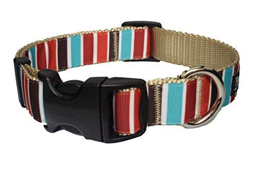 Hula Halter - Paw Paws USA Hula Stripe Dog Collar, Medium, Multicolored