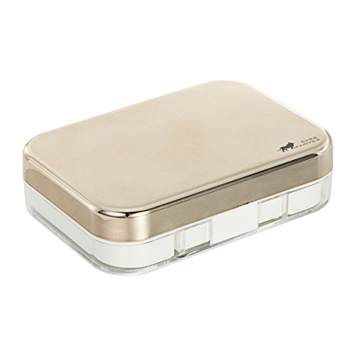 Bissport Cute Contact Lens Case Travel Kit Holder With Mirror (Gold) by Bissport (Image #5)