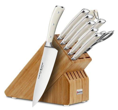 Wusthof 10 Piece Set Knife (Wusthof Classic Ikon Creme 10-piece Bamboo Knife Block Set)