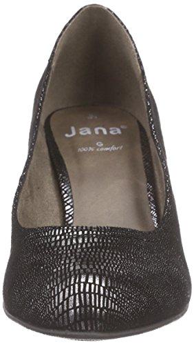 Jana 22406 - Tacones Mujer Negro - Schwarz (BLK PAT STRUCT 093)