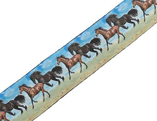 IBA Indianbeautifulart Azul geométrica caballo y correr animal ...