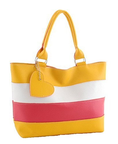 European Popular Latest Heart Heart The Stitching Shoulder Summer Spring Bag Simple And And Contrast 1 Color American Bag Peach Peach zTnqR7T