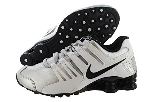 Nike Women's Shox Current Silver/White Running Shoes 639657 021 (6.5)