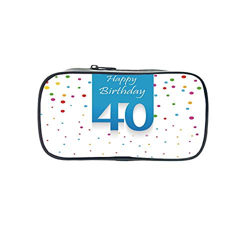 Personal Tailor Pen Bag,40th Birthday Decorations,Forty Years and