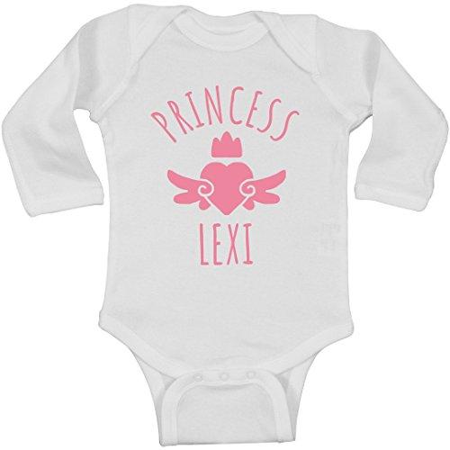 FUNNYSHIRTS.ORG Cute Princess Lexi Heart Onesie: Infant Long Sleeve Bodysuit