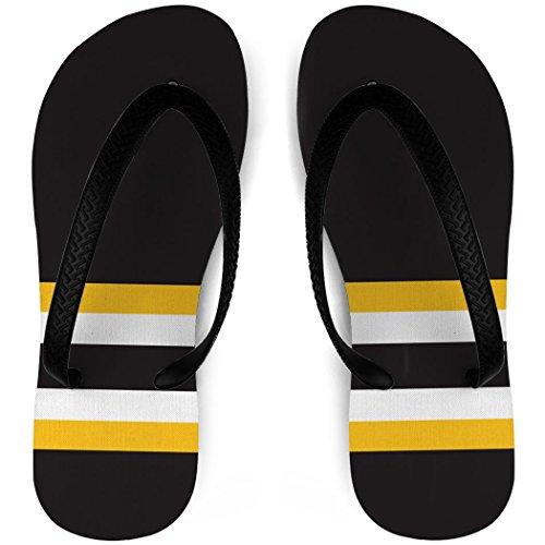 Hockey Flip Flops Sokken Striper Sort / Gul