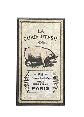 Farmhouse Bathroom Decor Paper Guest Towels Disposable Hand Towels or Dinner Napkins Rustic Home Decor French Country Decor Pig Decor 8 x 5 Pk 32