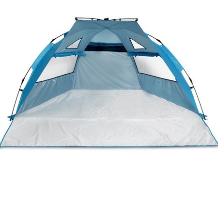94″x78″ Instant Pop Up 3-4 Person Tent Camping Cabin Shelter UPF 50+ Sun Protection w/ 3 Windows