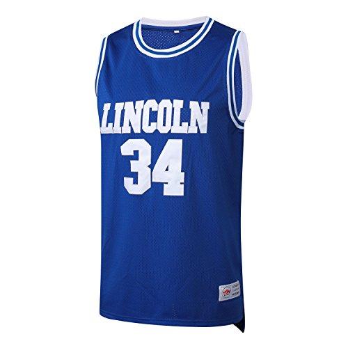 MM MASMIG Jesus Shuttlesworth 34 Lincoln Basketball Jerseys Ray Allen Jersey Movie S-XXXL Blue (X-Large, - Ray Jersey Allen