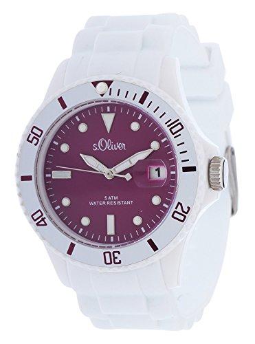 s.Oliver Women's Quartz Watch SO-2711-PQ with Plastic Strap