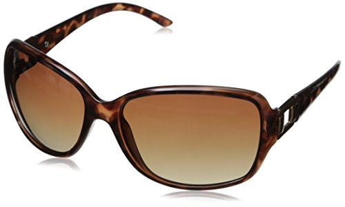 Foster Grant Women's Poppet Rectangular Sunglasses, Tortoise, 61.2 mm (Sunglasses Polarized Grant Foster)