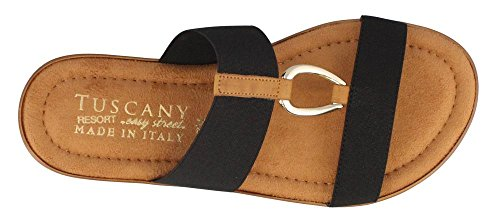 Easy Street Womens Tuscany by, Lia Slide Sandals Black