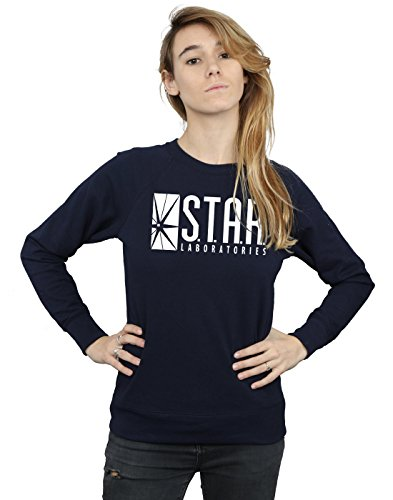 DC Comics Women's The Flash STAR Labs Sweatshirt, Black, Small