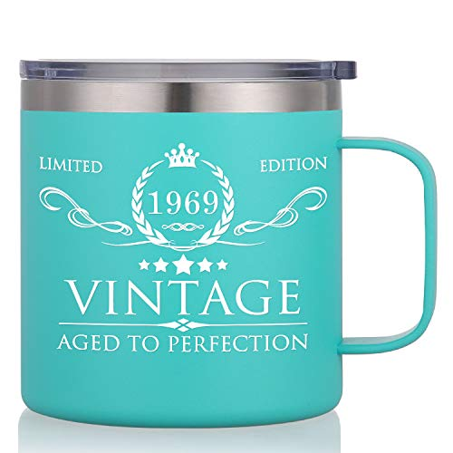 1969 50th Birthday Gifts for Men Women - Funny 50th Anniversary Gifts Idea, Birthday Decorations for Him/Her, Dad, Mom, Husband, Wife - 14oz Double Wall Insulated Trave Mug Tumbler Cup]()