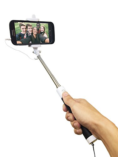 selfie stick no bluetooth no batteries needed analog monopod for most phones with android os. Black Bedroom Furniture Sets. Home Design Ideas