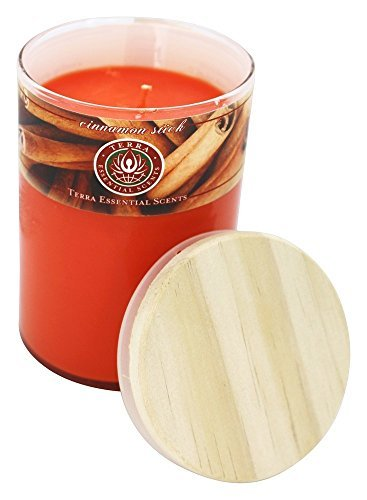 - Cinnamon Stick Soy Candle 12 Oz Tumbler. A Soothing, Spicy Blend Of Cinnamon & Spice Oils. Burns Approx. 30+ Hours by Terra Essential Scents