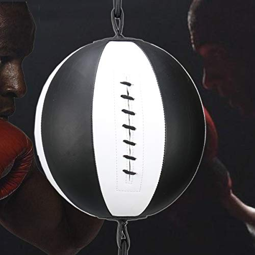 Mumian PU Leather Boxing Ball, Speed Dodge Ball Double End Gym MMA Boxing Sports Punch Bag Floor to Ceiling Rope Workout Training Gym Exercise Agility