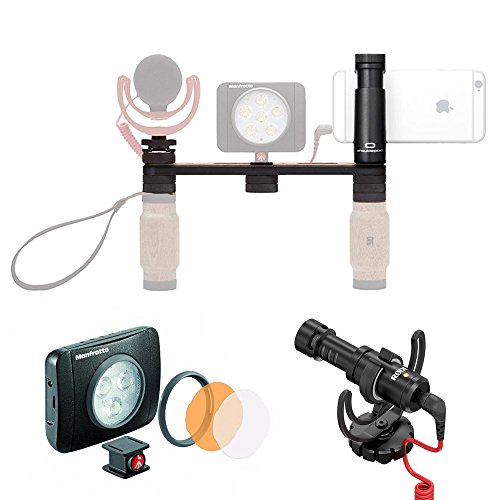Shoudlerpod X1 Pro Rig for Smartphone + Lumie Muse LED Light & Rode VideoMicro Mic w/Rycote Lyre Schock Mount by Manfrotto