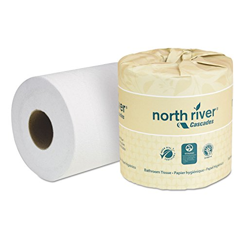 - Cascades B200 North River Standard Bathroom Tissue, 2-Ply, 4 5/16 x 3 3/4, 550 per Roll (Case of 80)