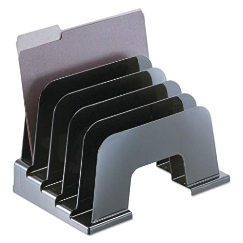 UNV08105 - Color : Black - Universal Recycled Plastic Incline Sorter - Each