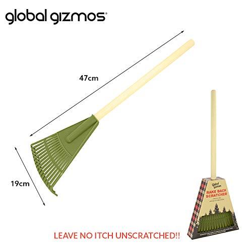 Global Gizmos 56090 flexible, f/ácil de alcanzar, 47 cm Rastrillo para jard/ín