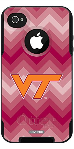 Coveroo Commuter Series Case for iPhone 4s/4 - Retail Packaging - Virginia Tech - Chevron