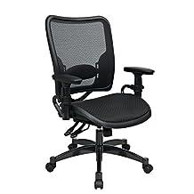 Office Star 6236 Space Air Grid Series Deluxe Chair, Gunmetal Gray