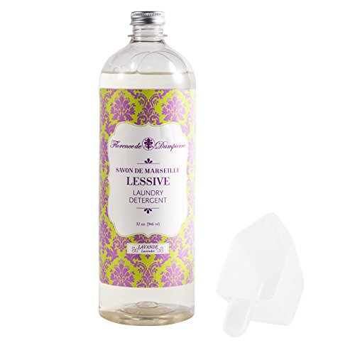 Florence de Dampierre 64 Load, All-Natural Savon de Marseille Soap, Liquid Laundry Detergent, 32 oz. - Lavender