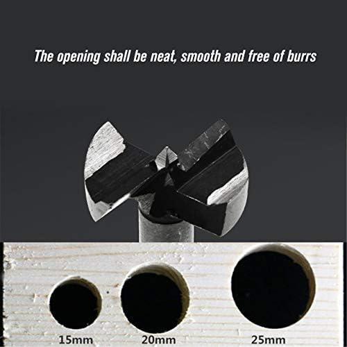 5本の高炭素鋼の穴あけオープナー木工ヒンジドリルドリルボーリングビットウッドホールソーキットパンチングツール-シルバー