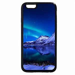iPhone 6S Plus Case, iPhone 6 Plus Case, northern lights over mountain lake in winter