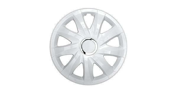 Tapacubos RKK DFT de color blanco 14 pulgadas universal para casi todos los coches: Amazon.es: Coche y moto