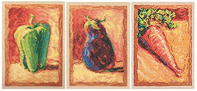 Janlynn Vegetable Trio Cntd X-Stitch Kit (Kit Cntd Cross Stitch)